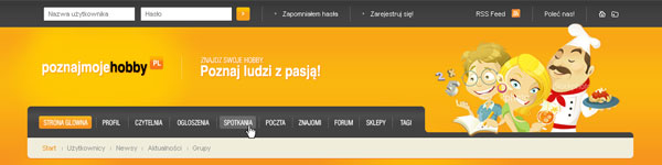 Web design collection: Poznej moye hobby