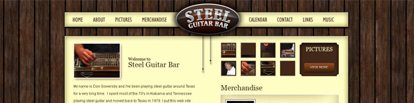 Web design collection: Steel Guitar bar